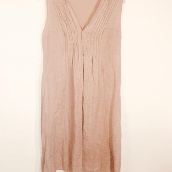 Vintage Dresses & Skirts - Vintage MADE ITALY LAGENLOOK 100% Linen Dress-S